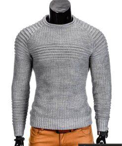 Pilkas vyriškas megztinis internetu Guru E96 džemperis vyrams pigiau