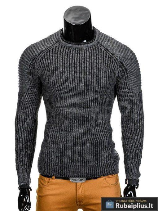 Pilkas vyriškas megztinis internetu Karen E98 džemperis vyrams pigiau