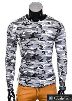 Pilki kamufliažiniai vyriški marškinėliai internetu pigiau Camo L70