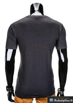isskirtiniai marskineliai vyrams, vyriški marškinėliai tamsiai pilkos spalvos su isskirtine aplikacija, denim kolekcijos vyriški marškinėliai, trumpomis rankovėmis marškinėliai vyrams, klasikiniai vyriški marškinėliai, marškinėliai vyrams internetu, originalūs vyriški marškinėliai, marškinėliai vyrams spalvos, vyriški marškinėliai su užrašu ir aplikacija, marškinėliai uz gera kaina, protinga kaina, akcija, nuolaidos rūbams