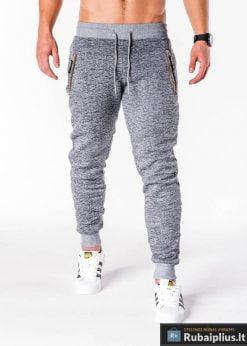 Pilkos sportinės vyriškos kelnės vyrams internetu pigiau Getsbi P604P-1