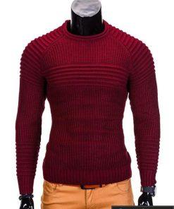 Raudonas vyriškas megztinis internetu Guru E96 džemperis vyrams pigiau