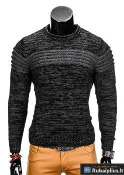 Tamsiai pilkas vyriškas megztinis internetu Faruk E99 džemperis vyrams pigiau
