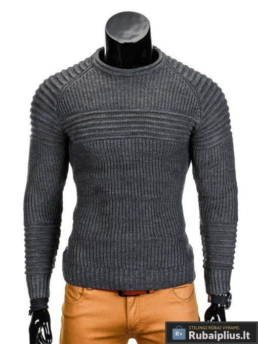 Tamsiai pilkas vyriškas megztinis internetu Guru E96 džemperis vyrams pigiau
