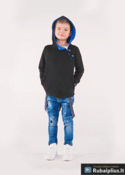 Juodas-mėlynas vaikiškas džemperis vaikams internetu pigiau Paco KB005JM-1