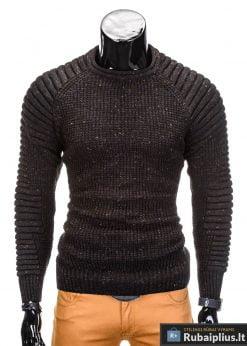 Juodas vyriškas megztinis internetu Dato E104 megztinis vyrams pigiau