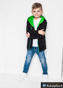 Juodas-žalias vaikiškas džemperis vaikams internetu pigiau PRIMO KB001JZ-4