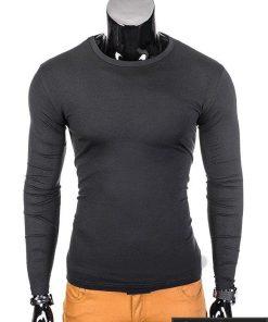 Juodi vyriški marškinėliai ilgomis rankovėmis internetu pigiau Boro L69