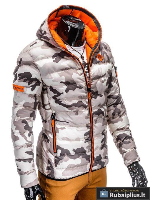 kamufliažinė žieminė vyriska striuke, pilkai-rusvos spalvos striuke vyrams, vyriskos striukes internetu, stilinga vyriška striukė, vyriška striukė žiemai, madingos vyriškos striukės internetu, žieminės striukės, žieminė striukės, originalios striukės, aukštos kokybės, nuolaida, akcija, aukšta kokybė, greitas pristatymas, apmokėjimas gavus preke
