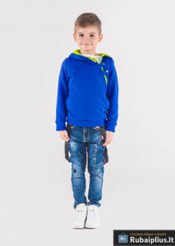 Mėlynas vaikiškas džemperis vaikamssu gobtuvu internetu pigiauPaco KB005MZ-2