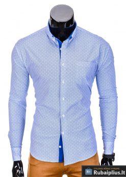 Šviesiai mėlynivyriški marškiniai vyrams internetu pigiau Arno K388SM-2