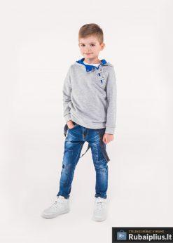 Pilkas-mėlynas vaikiškas džemperis vaikams internetu pigiau Paco KB005PM-1