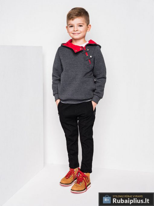 Tamsiaipilkas vaikiškas džemperis vaikams interntu pigiau Paco KB005TPR-2