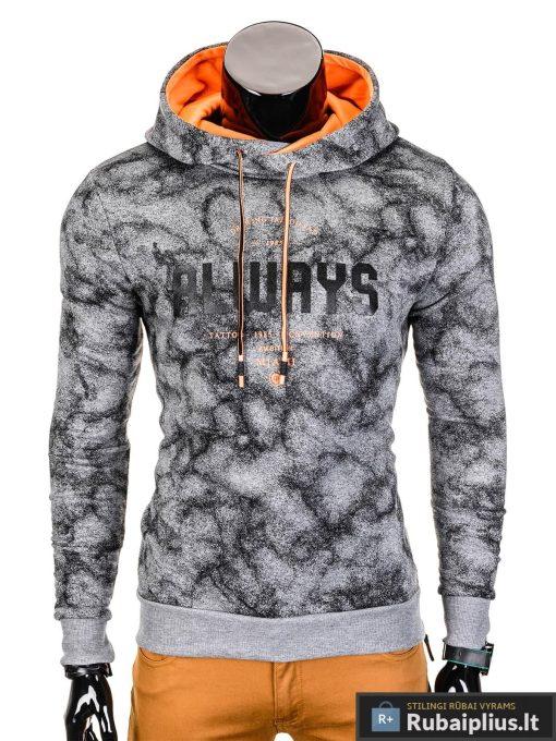 Tamsiai pilkas vyriškas džemperis Miami B706