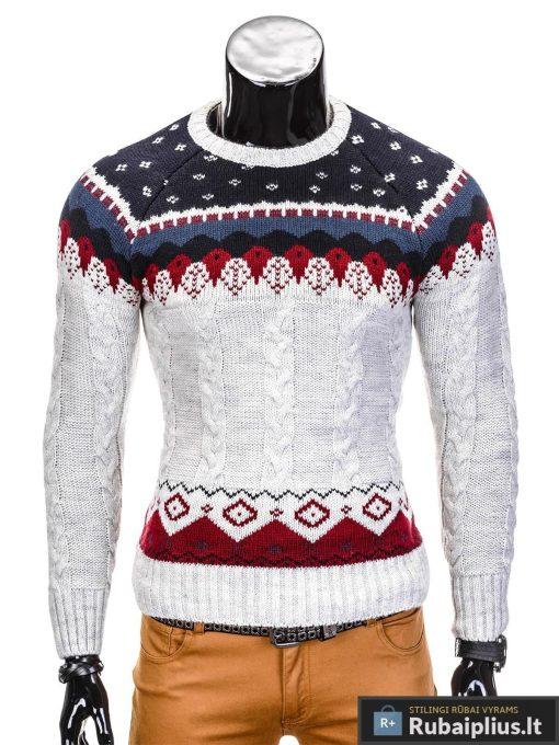 Pilkas vyriškas megztinis internetu pigiau Wol E103
