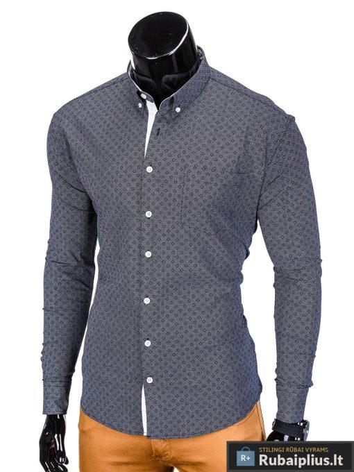 vyriški tamsiai pilki marškiniai internetu, stilingi tamsiai pilkos spalvos marškiniai vyrams, madingi marškiniai vyrams ilgomis rankovemis, originalūs vyriški marškiniai internetu, klasikiniai marškiniai vyrams, stilingi marškiniai vyrams, aukšta kokybė, greitas pristatymas, apmokėjimas gavus prekes, vyriškų striukių išpardavimas