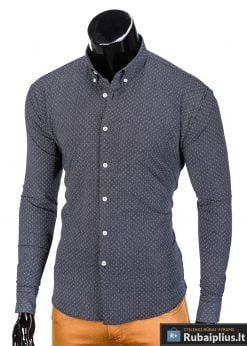 isskirtiniai tamsiai pilki marškiniai vyrams, tamsiai pilkos spalvos vyriški marškiniai, madingi marškiniai vyrams ilgomis rankovemis, vyriški marškiniai internetu, originalūs vyriški marškiniai internetu, klasikiniai marškiniai vyrams, stilingi marškiniai vyrams, marškiniai vyrams aukštos kokybės