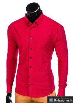 isskirtiniai raudoni marškiniai vyrams, raudonos spalvos vyriški marškiniai, madingi marškiniai vyrams ilgomis rankovemis, vyriški marškiniai internetu, originalūs vyriški marškiniai internetu, klasikiniai marškiniai vyrams, stilingi marškiniai vyrams, marškiniai vyrams aukštos kokybės