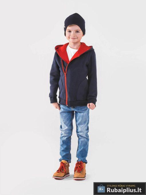 Tamsiai mėlynas vaikiškas džemperis vaikams internetu pigiau PRIMO KB001TMR-2