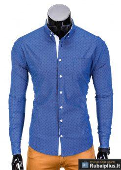 Tamsiaimėlyni vyriški marškiniai vyrams internetu pigiau Arno K388TM-2