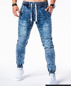 Šviesiai mėlyni vyriški džinsai vyrams internetu pigiau Jeisy P551