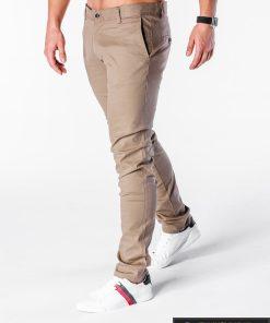 stilingi rusvos spalvos kelnės vyrams laisvalaikiui internetu pigiau, kokybiški originalius slim džinsai, protigna kaina nebrangiai, nuolaidos, akcija