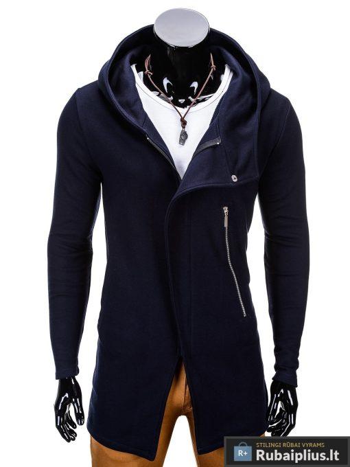 stilingas šiuolaikinio modelio tamsiai mėlynos spalvos džemperis vyrams internetu, kokybiškas madingas vyriškas džemperis laisvalaikiui, bliuzonas su gobtuvu, nebrangiai originalūs su kapišonu užsegamas užtrauktuku, už protigna kaina jaunuoliams, akcija, nuolaidos, kokybe, berniukams, ispardavimas, paaugliams pigiau, nauja kaina lietuva