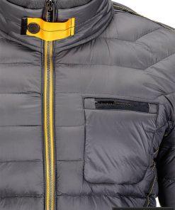 Dygsniuota pavasarine pilka vyriška striukė vyrams internetu pigiau C292P kišenė