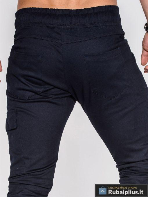 madingi laisvalaikio tamsiai mėlynos spalvos vyriškos kelnės jogger stiliaus su kišenėmis internetu pigiau, vyriški slim džinsai protigna kaina, nuolaidos akcija