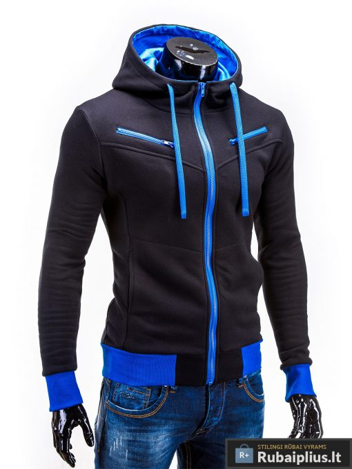 Juodas džemperis vyrams su gobtuvu internetu pigiau