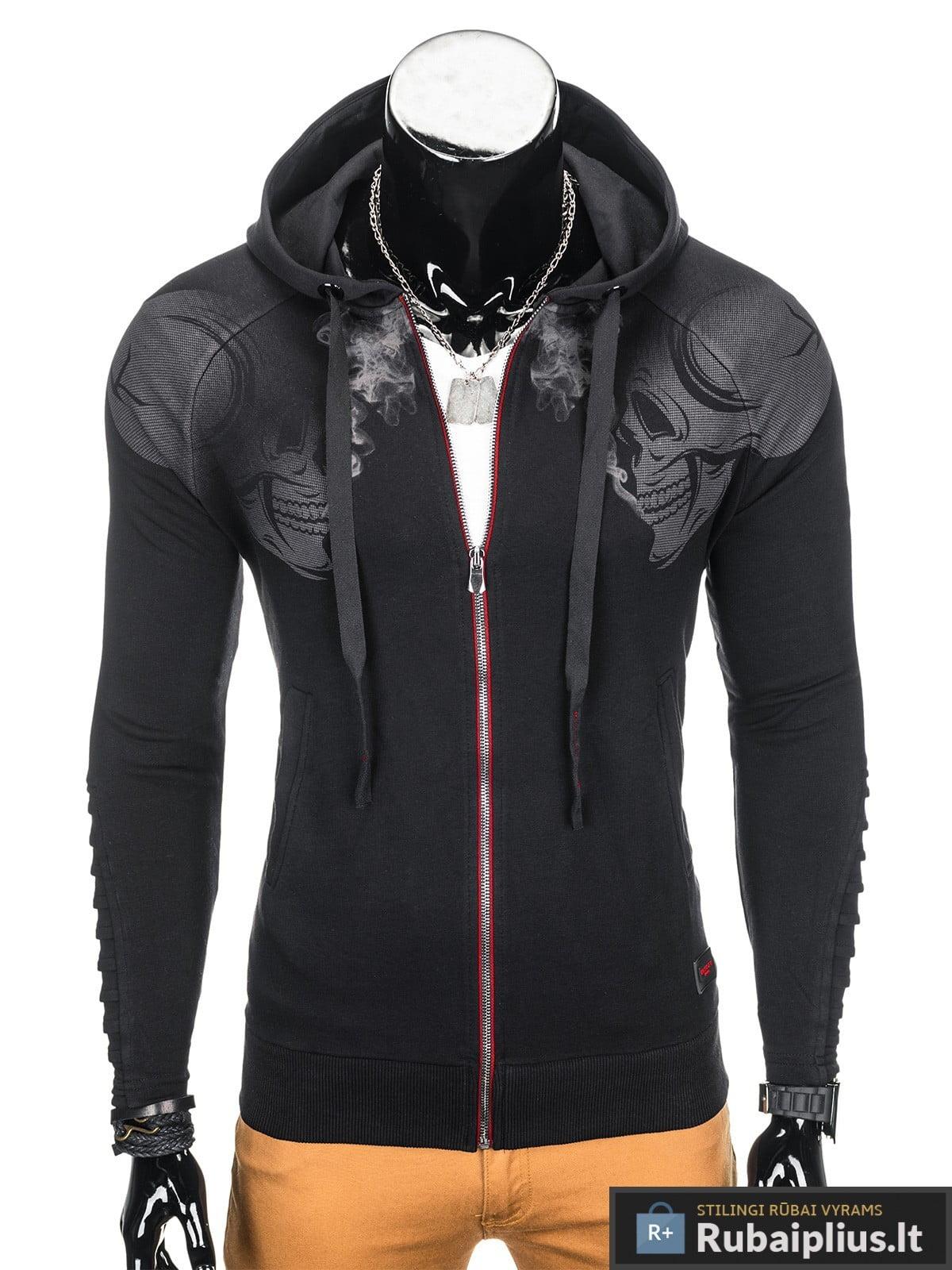 stilingas juodos spalvos dzemperis vyrams internetu pigiau, nebrangiai madingi vyriški džemperiai protigna kaina jaunuoliams, berniukams, paaugliams pigiau, nuolaidos