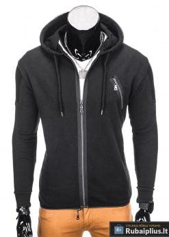 Juodas džemperis vyrams Konan B756