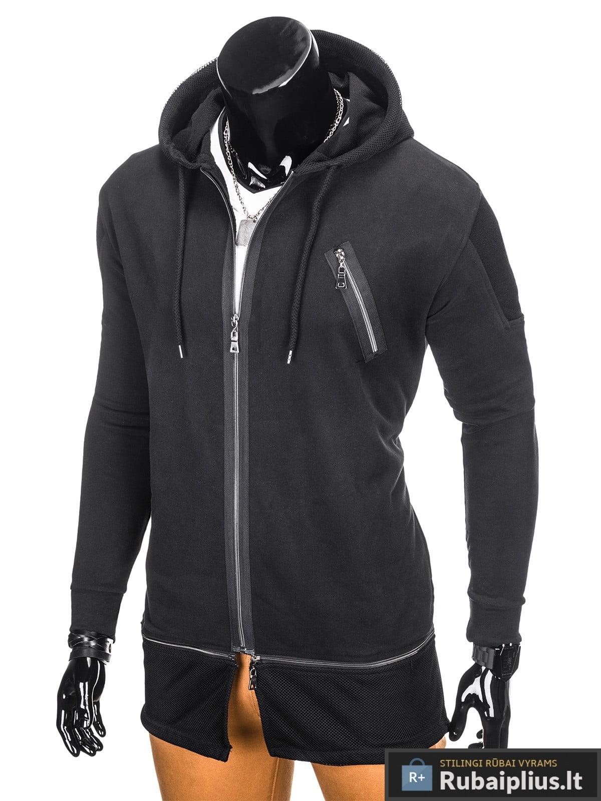 stilingas juodos spalvos dzemperis vyrams internetu pigiau, nebrangiai madingi vyriški džemperiai protigna kaina jaunuoliams, berniukams, paaugliams nuolaidos