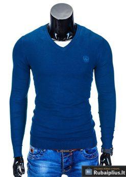 Elegantiškas mėlynas džemperis vyrams internetu pigiau