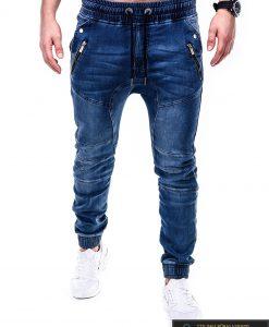Stilingi mėlyni vyriški džinsai internetu pigiau