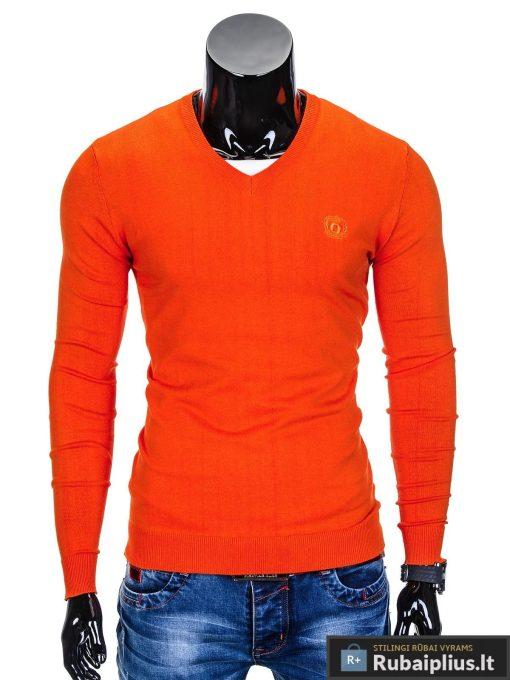 Oranžinis džemperis vyrams internetu pigiau Ombre E74 5830