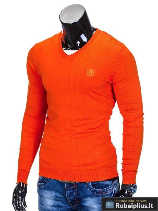 Oranžinės spalvos džemperis vyrams internetu pigiau