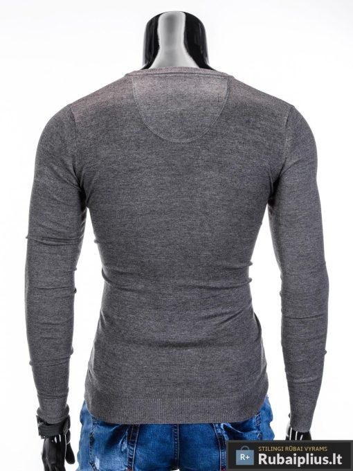 Tamsiai pilkos-melanžinės spalvos džemperis vyrams internetu pigiau