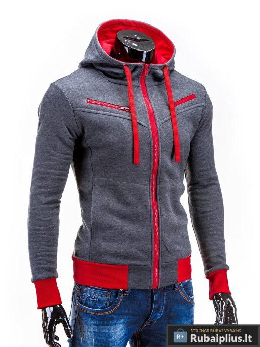 Pilkas džemperis vyrams su gobtuvu internetu pigiau