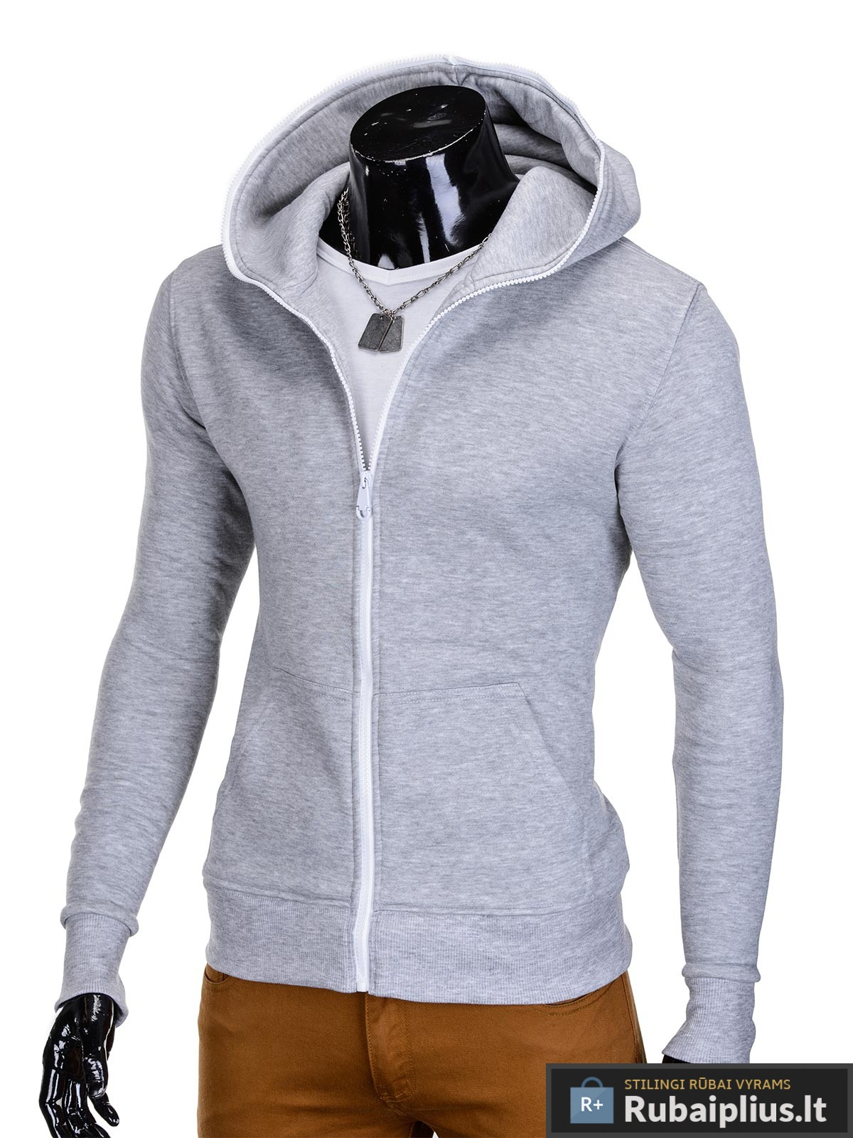 Pilkos spalvos džemperis vyrams internetu pigiau
