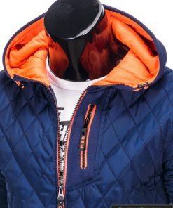 stilinga mėlyna striukė vyrams internetu pigiau, nebrangiai vyriškos striukes rudeniui, pavasariui protigna kaina, nuolaidos, akcija