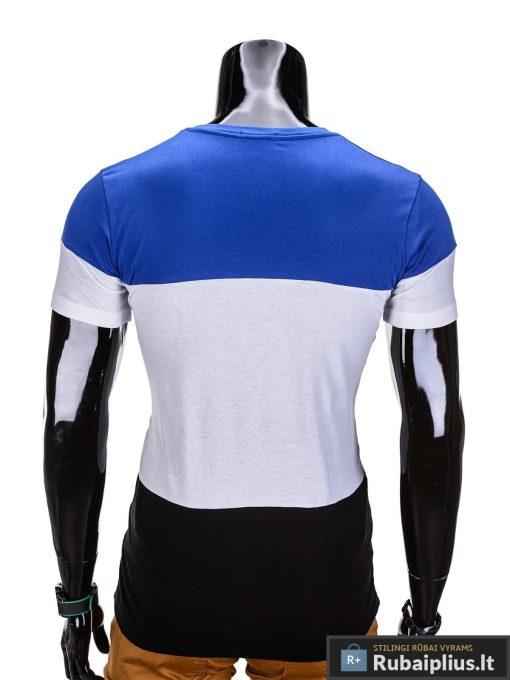 Madingi trijų spalvų marškinėliai vyrams internetu pigiau