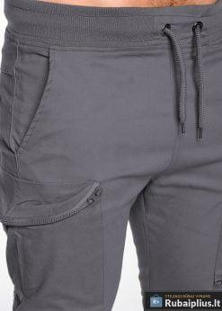 pilkos laisvalaikio vyriškos kelnės vyrams jogger tipo