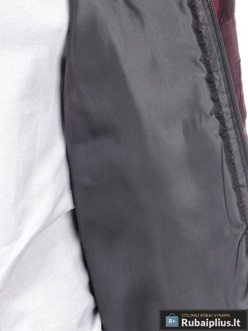 Stilinga bordo spalvos striukė vyrams internetu pigiau