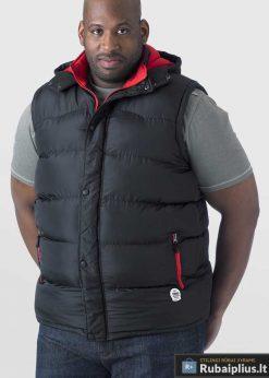 Juodos spalvos vyriška liemenė vyrams