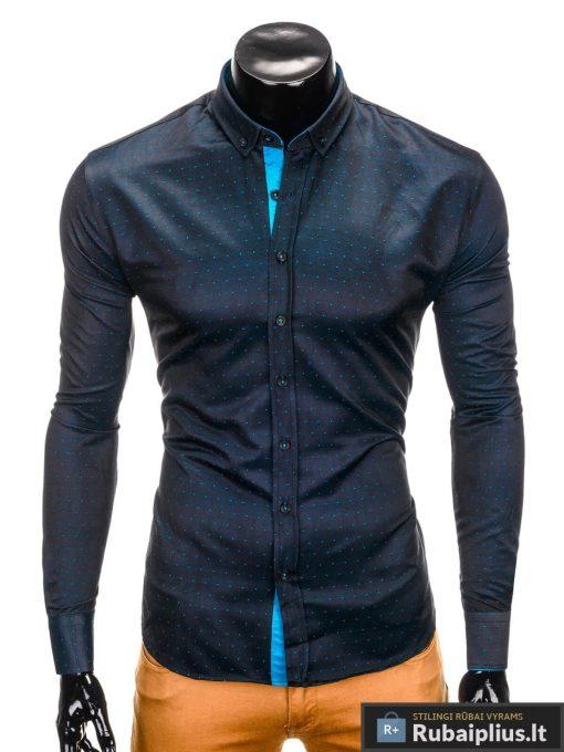 """Juodi stilingi marškiniai vyrams """"Kiano"""" internetu pigiau"""
