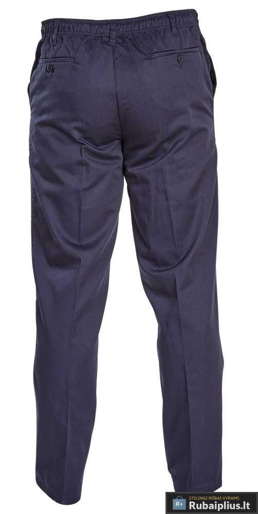 """Klasikinio stiliaus tamsiai mėlynos spalvos vyriškos kelnės """"Basilio"""""""
