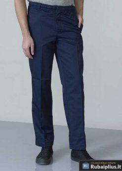 Didelių dydžiųklasikines mėlynos vyriškos kelnės internetu Basilio KS1408TM