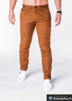 """Klasikinio stiliaus rudos spalvos vyriškos kelnės vyrams """"Dali"""" internetu pigiau"""