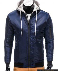 Sportinė tamsiai mėlyna striukė vyrams internetu pigiau